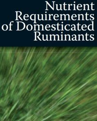 nutrient requirements of domesticated ruminants pdf